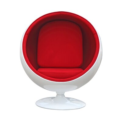 Ball Balloon Chair Upholstery: Red