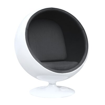 Ball Balloon Chair Upholstery: Black