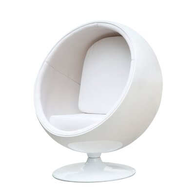 Ball Balloon Chair Upholstery: White