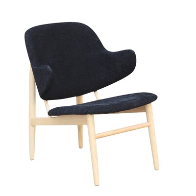Atel Lounge Chair Color: Black
