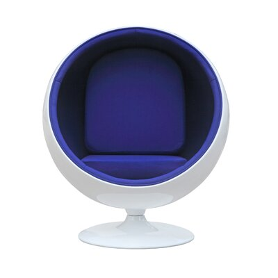 Ball Balloon Chair Upholstery: Blue