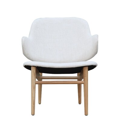 Atel Lounge Chair Upholstery: White