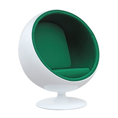 Ball Balloon Chair Upholstery: Green