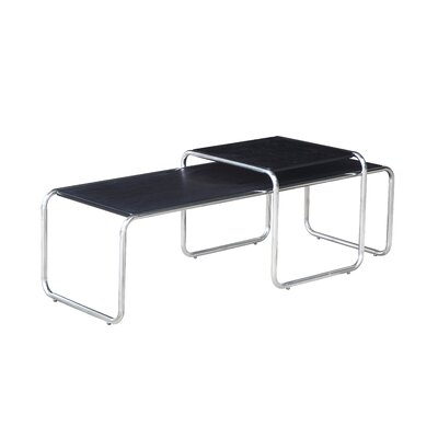 Nesting Long End Table Color: Black