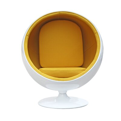 Ball Balloon Chair Upholstery: Yellow