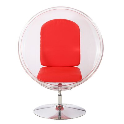 Ball Chair Upholstery: Red