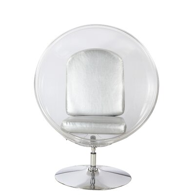 Ball Chair Upholstery: Silver