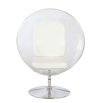 Ball Chair Upholstery: White