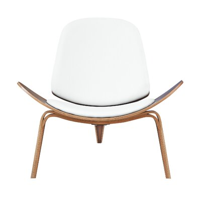 Shell Arm Chair Upholstery: White