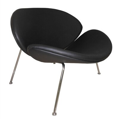 Slice Lounge Chair Upholstery: Black