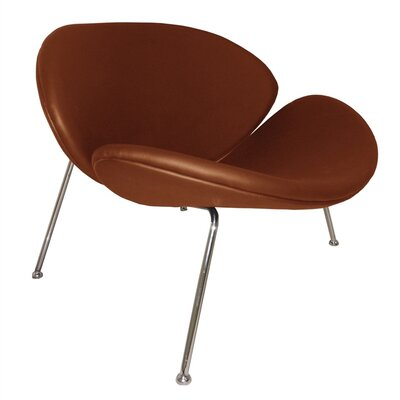 Slice Lounge Chair Upholstery: Light Brown