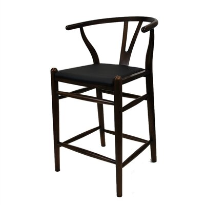 Woodstring 25 Bar Stool Color: Walnut