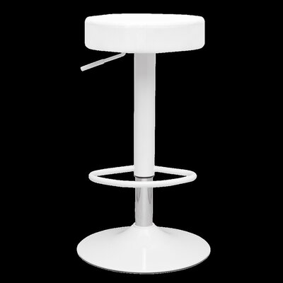 Angle Adjustable Height Swivel Bar Stool Upholstery: White
