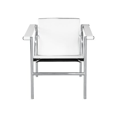 String Flat Arm Chair Color: White