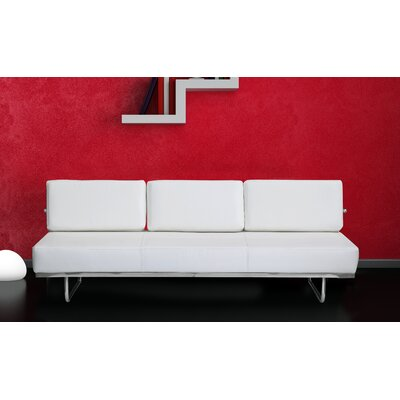 Leather Sleeper Upholstery: White