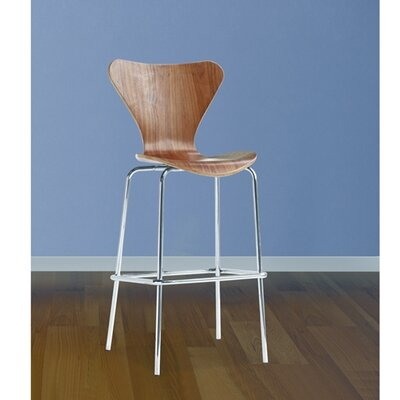 Jays 31 inch Bar Stool Upholstery: Walnut