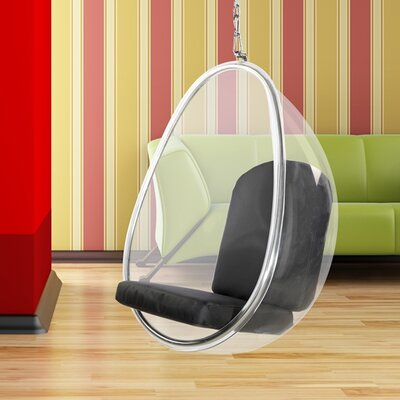 Balloon Hanging Chair Color: Black
