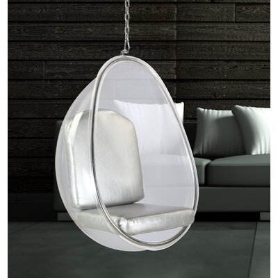 Balloon Hanging Chair Upholstery: Silver