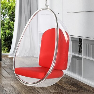 Balloon Hanging Chair Upholstery: Red