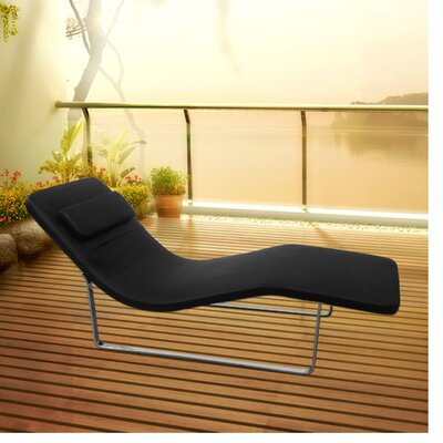 Longa Chaise Lounge Upholstery: Black