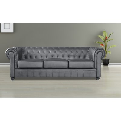 Chestfield Chesterfield Sofa Upholstery: Black