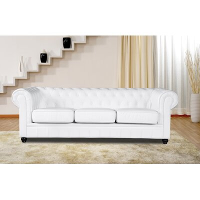 Chestfield Chesterfield Sofa Upholstery: White