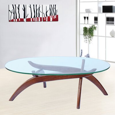 Spider Coffee Table Color: Walnut