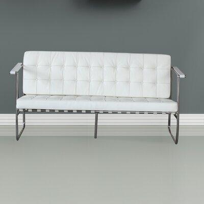 FMI9249white FLNE1216 Fine Mod Imports Celona Leather Sofa