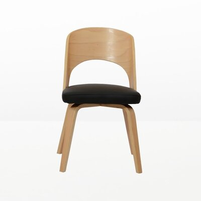 Bendino Dining Side Chair Upholstery: Black