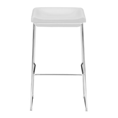 30.3 Bar Stool Upholstery: White