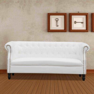 Chester Chesterfield Sofa Upholstery: White