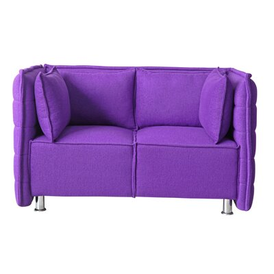 Chesterfield Sofata Chesterfield Loveseat Upholstery: Purple