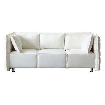 Chesterfield Sofata Chesterfield Sofa Upholstery: White