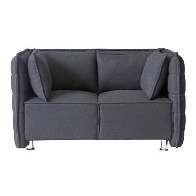 Chesterfield Loveseat Upholstery: Black