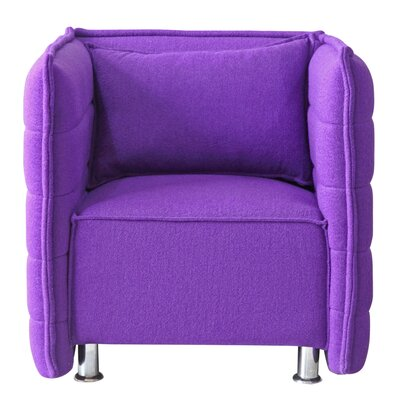 Sofata Lounge Chair Color: Purple