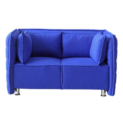 Chesterfield Loveseat Upholstery: Blue