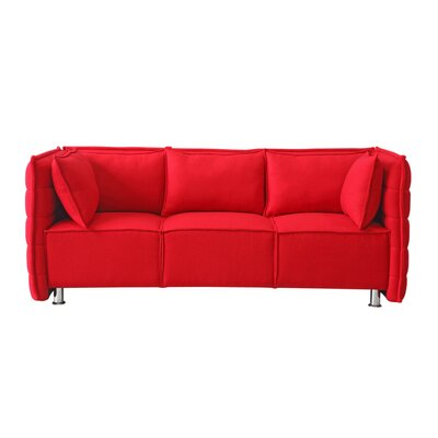 Chesterfield Sofata Chesterfield Sofa Upholstery: Red