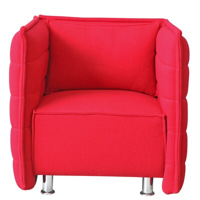Sofata Lounge Chair Upholstery: Red