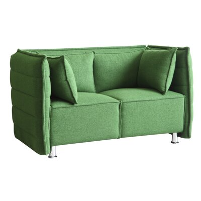 Chesterfield Loveseat Upholstery: Green