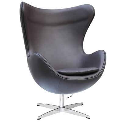 Inner Leather Lounge Chair Color: Dark Brown