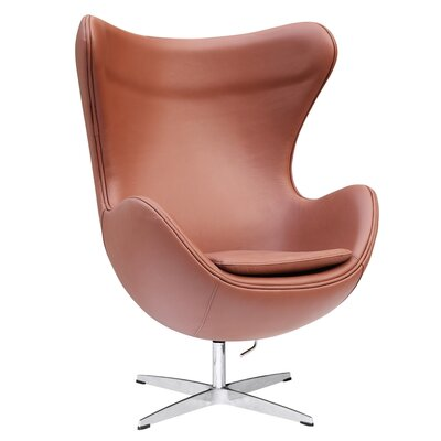 Inner Leather Lounge Chair Color: Light Brown