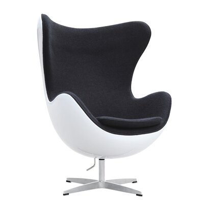 Fiesta Fiberglass Lounge Chair Upholstery: Black