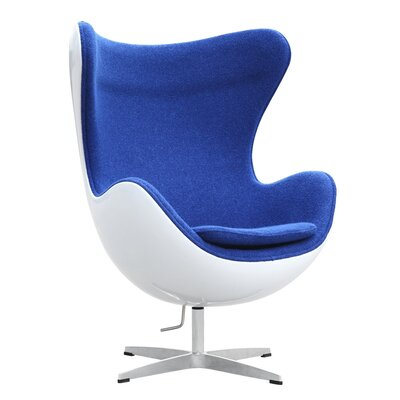 Fiesta Swivel Lounge Chair Upholstery: Blue