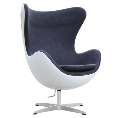 Fiesta Fiberglass Lounge Chair Color: Gray