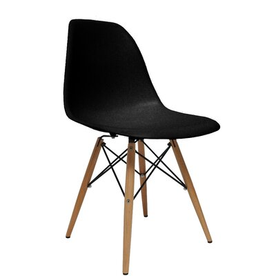 WoodLeg Dining Side Chair Color: Black