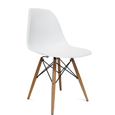 WoodLeg Dining Side Chair Finish: White