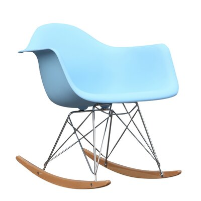 Rocker Arm Chair Finish: Light blue