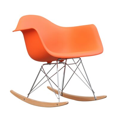 Rocker Arm Chair Color: Orange