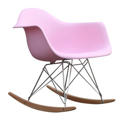 Rocker Arm Chair Finish: Pink