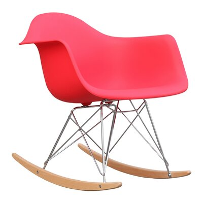 Rocker Arm Chair Finish: Red